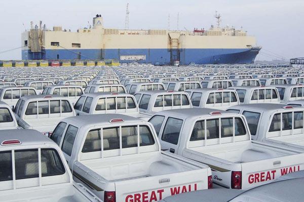 3000辆长城皮卡等候装船出口至俄罗斯