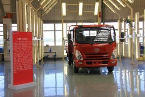 一汽通用第三代解放轻卡F330下线工厂参观