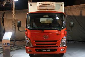 一汽通用解放F330速豹液压尾板厢式货车