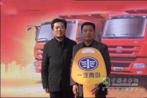 解放青汽125辆新悍威自卸车交付湖南用户