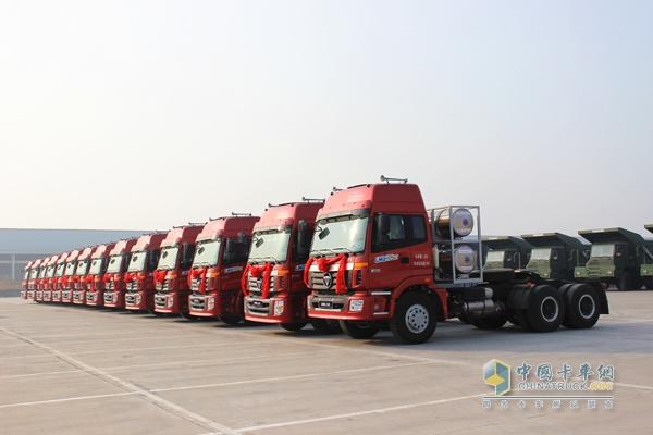 福田戴姆勒汽车欧曼LNG首批交付车辆