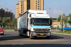 领创油耗星标准 奔驰卡车哈尔滨站往返油耗实测
