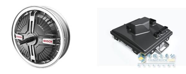 图左:电动自行车电机 图右:电动自行车控制器