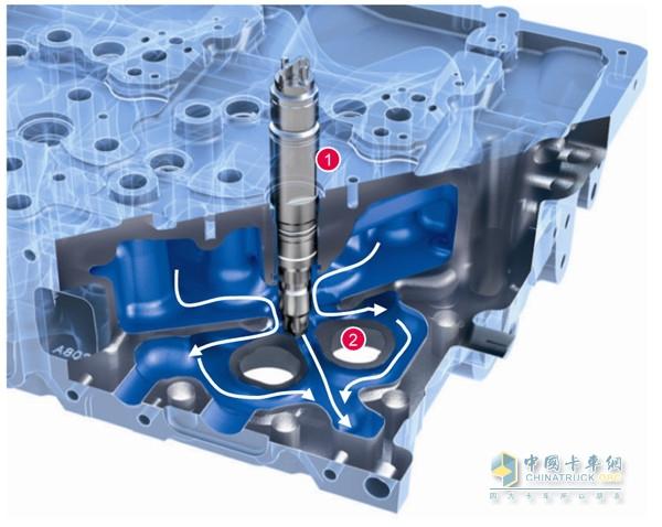 462发动机气缸盖结构图