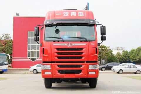 一汽解放青岛 天V重卡 420马力 6X4 国四牵引车(CA4259P2K2T1E4A80)