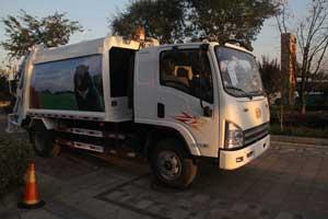 一汽解放青岛 虎V 120马力 4X2 国四H压缩式垃圾车 PDZ5080ZYSAE4