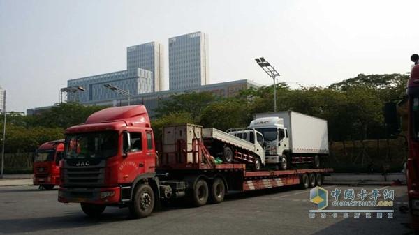江淮汽车上的江淮汽车-广州车展前瞻 江淮 红岩篇高清图片