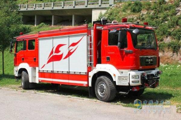 消防车有简单画画图片大全
