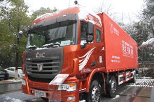 联合卡车 玉柴 260马力 6X2LNG厢式载货车