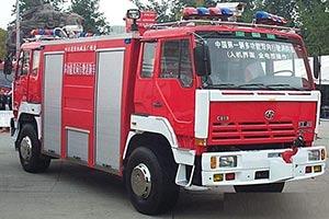 中国第一辆双头消防车 红岩多功能双向行驶消防车