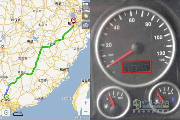 首台中国重汽SITARK.汕德卡运行里程超50万公里跟车报告高清图片
