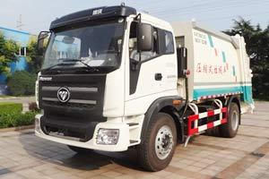 福田瑞沃中驰 8/10 吨压缩式垃圾车