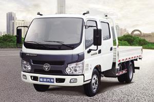 福田瑞沃五十铃国四110马力 4×2 双排平板载货车
