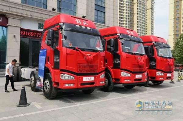 一汽解放j6档位_现场订购68辆 解放J6载货车在石家庄举行产品推介会_中国卡车网