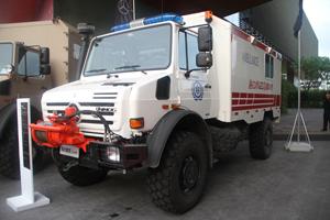梅赛德斯-奔驰乌尼莫克(Unimog)U4000 4X4全地形救护车底盘