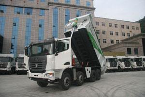 联合卡车U340 8X4智能环保渣土车(驰田金钢上装)