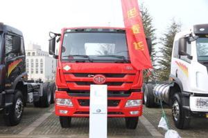 青岛解放 新悍威(J5M)重卡 280马力 8X4 LNG自卸车