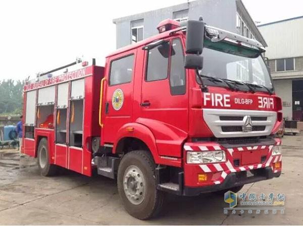 中国重汽商用车消防车