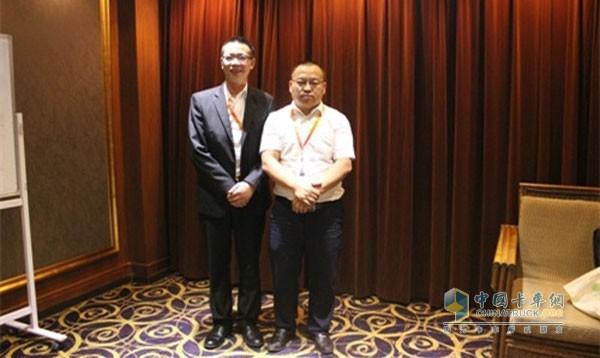 志鸿物流有限公司总裁刘志远和副总裁刘仁超