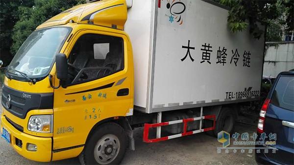 陕西大黄蜂冷链物流有限公司的欧马可车辆