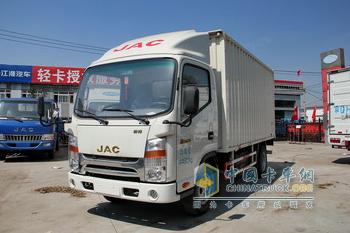 江淮帅铃K系 K340 124马力 4.13米单排厢式轻卡