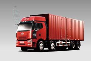 一汽解放J6P 420马力8×4厢式载货车(重载型)