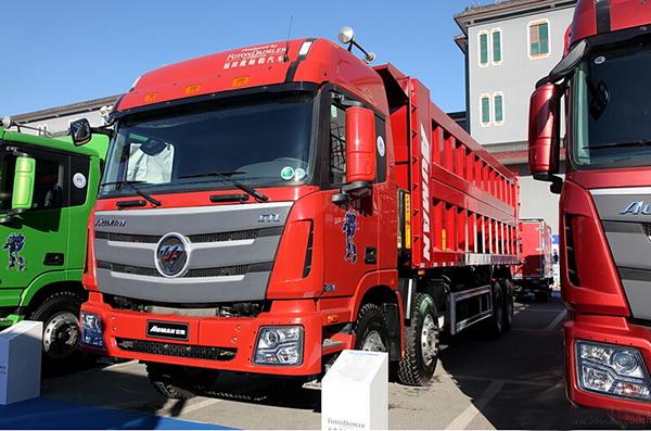 福田戴姆勒 欧曼gtl 9系重卡 380马力 8x4 自卸车图片