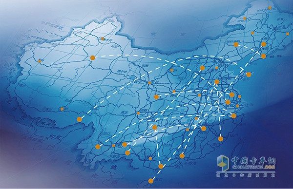 中国运输地图矢量图