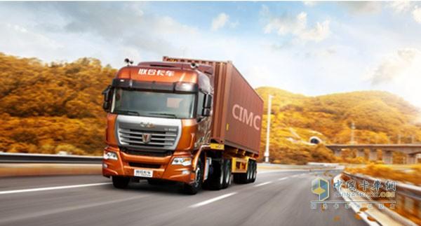 联合卡车6x2r牵引车34.28万尝鲜发售