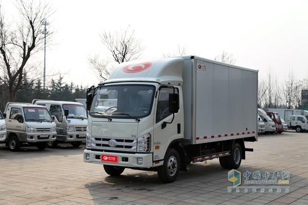 福田时代康瑞H2 110马力 4.15米单排厢(车)式载货车