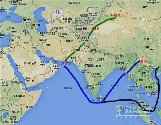 只要该高速公路竣工,即使面对马六甲海峡和南中国海等海上原油输送