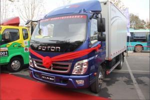 福田奥铃CNG 103马力 4X2双排厢式载货车(两用燃料)