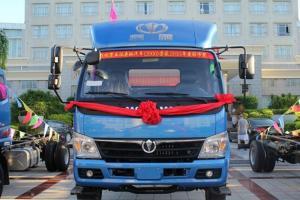 奥驰D3系列 130马力 4X2 5.66米排半载货车(FD1091P8K4)(扬柴)