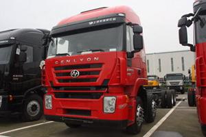 上汽依维柯红岩 杰狮M100 290马力 标载版 8X4 栏板载货车