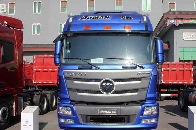 福田戴姆勒欧曼gtl 6系重卡 400马力 6x2牵引车(bj4259snfkb-xg)