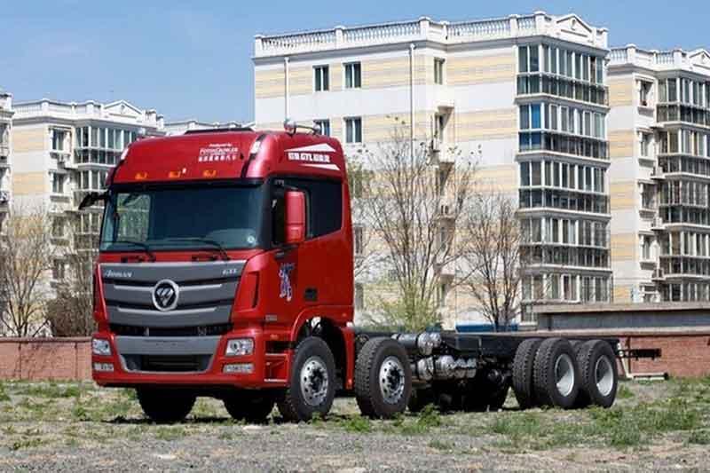福田戴姆勒欧曼gtl 6系重卡 超能版 山区型 350马力 8x4厢式载货车图片