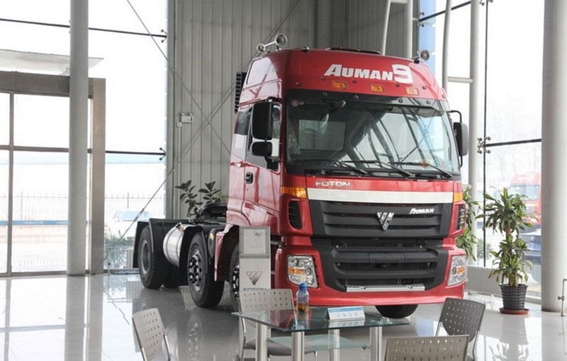 福田戴姆勒欧曼etx 9系重卡 336马力 6x2牵引车(bj4253snfjb-xc)图片