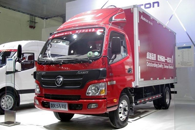 福田欧马可1系 143马力 4X2 4.165米单排厢式轻卡(BJ5049XXY-A3)