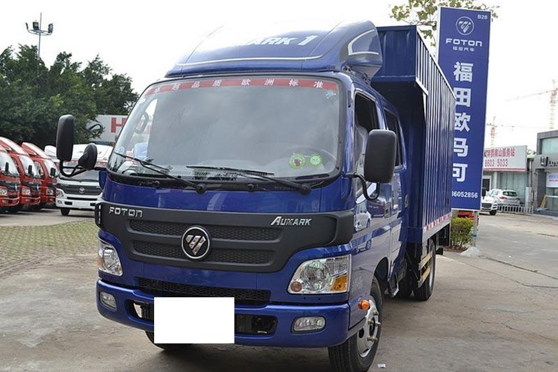 福田欧马可1系 117马力 4X2 3.155米双排厢式轻卡(BJ5049XXY-F8)