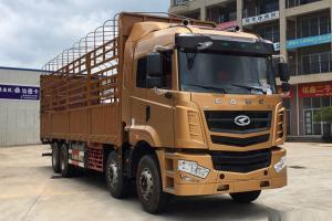 华菱 汉马 345马力 8X4 9.6米排半仓栅式载货车(HN5310CCYX34D6M5)