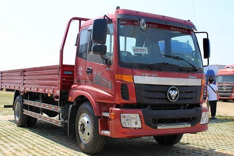 福田欧马可5系 中卡 170马力 4X2 6.75米单排栏板载货车(BJ1169VKPEK-A2)