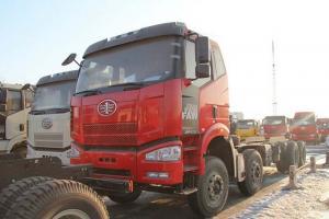 一汽解放 J6P准重卡 310马力 8X4自卸车底盘(CA3310P66K2L5BT4E4)