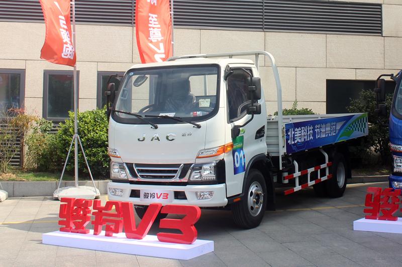 江淮骏铃V3 120马力 4X2单排栏板轻卡(江淮2.8L动力)
