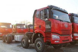 一汽解放 J6M准重卡 280马力 8X4自卸车底盘(CA3310P63K2L2BT4E4)