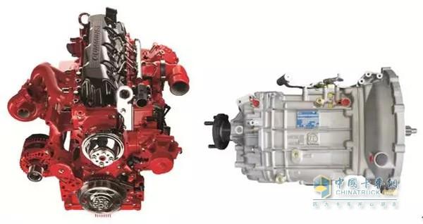 康明斯发动机、采埃孚变速器
