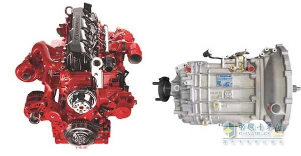 康明斯发动机和采埃孚变速器