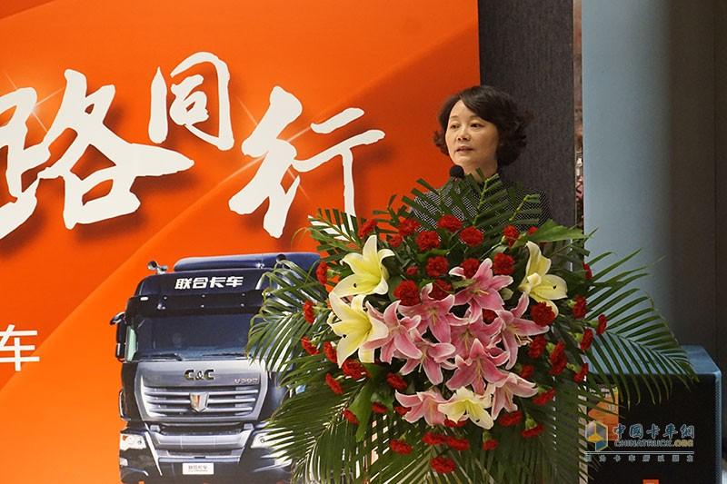 联合卡车党委书记汪琳琍女士
