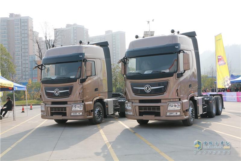 第二季东风天龙中国卡车驾驶员大赛现场天龙旗舰