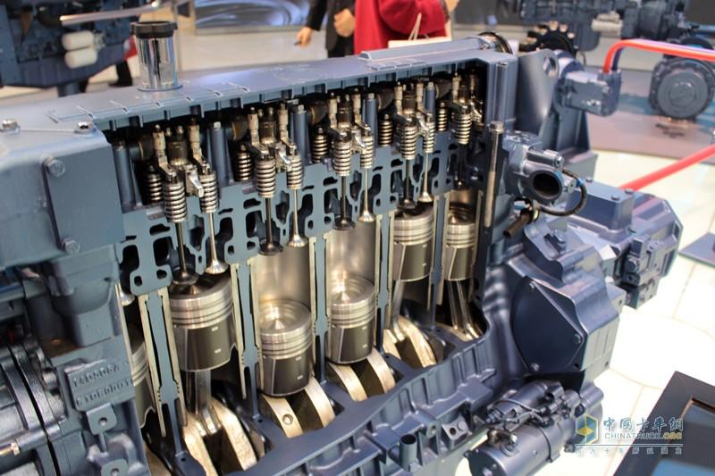 潍柴柴油动力发动机解剖图