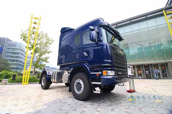 全球唯一斯堪尼亚G480 Longline 4x4卡车